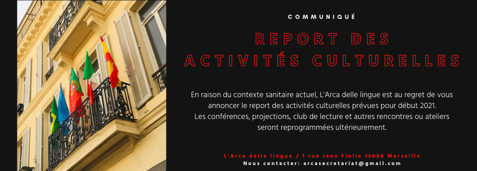 Report des activités culturelles
